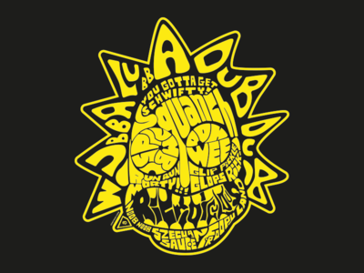 It's Rickdiculous! illustration graphic design yellow typography t-shirt design rick and morty