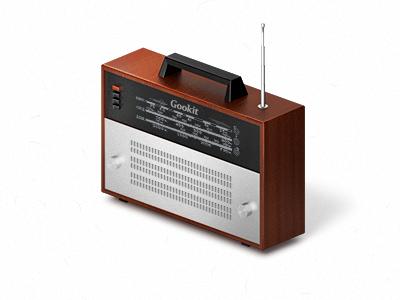 Radio 80s radio icon wood aluminium old school gifts