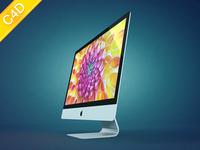iMac'12 (thinner! more thinner!), Free model for Cinema 4D