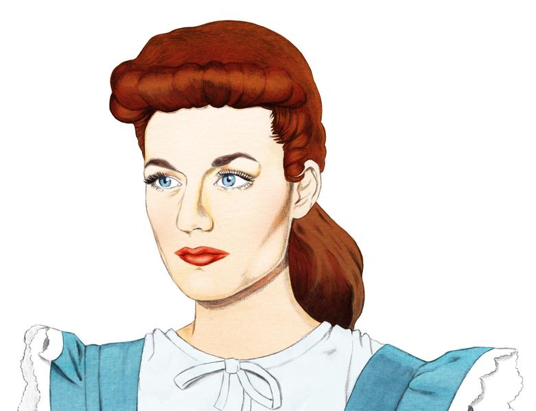 Portrait JC bodanique bo-danique portrait art portrait watercolor illustration watercolor art watercolor