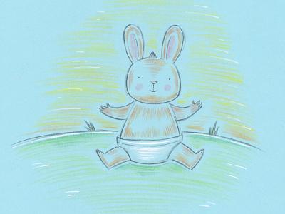 Bunny pencil analog character baby animal rabbit bunny bodanique bo-danique