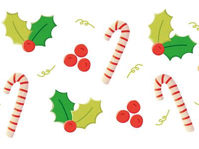 Almost christmas green red xmas party xmas card xmas illustratie bodanique bo-danique illustration