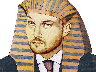 Farao Lubach realistic pencil watercolor portrait farao lubach arjen arjenlubach