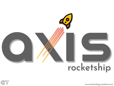 Rocketship logo with Axis logochallenge dailylogochallenge branding design logo illustration