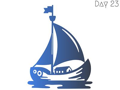 Boat logo design concept dailylogo design logoconcept 30daychallenge illustration logo branding daily 100 challenge logochallenge dailylogochallenge