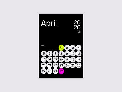 1 month 1 calendar #1 vector illustration poster design uxui calendar ui calendar