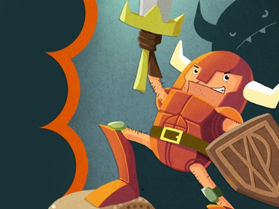 Illustration for Book Cover illustration fantasy warrior