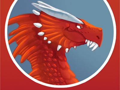 Bucky the Red Dragon illustration dragon