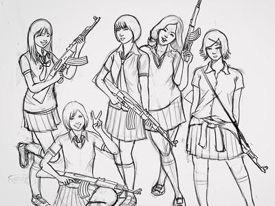 AKB47 Sketch WIP sketch illustration