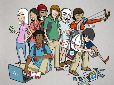People of teh Internets illustration