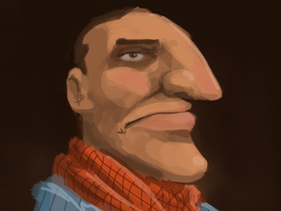 iPad Cowboy Sketch sketch