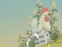 The Countryside, Corn, Roosters and Such