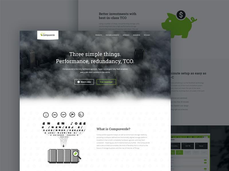 Compuverde Startpage ui web startpage milou