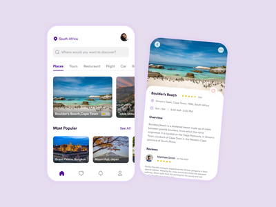 Travel app app south africa travel app uiux ux ui productdesign uxdesign uidesign