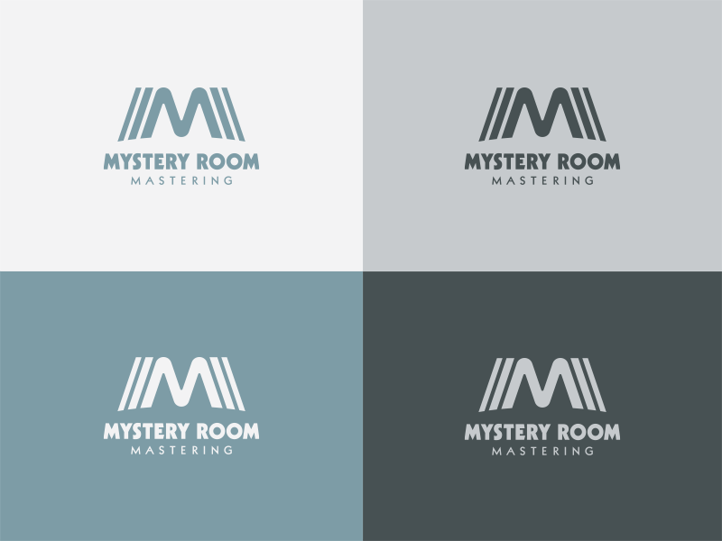 Mystery Room Mastering pt. 2 echo reverb wave sound brand identity symbol icon logo mastering room mystery
