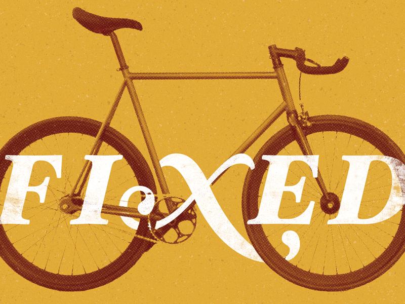 Fixed poster bike hispter fixed crank type wheels frame fixie bicycle spoke anal seat