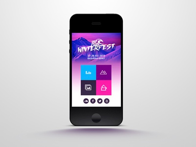 Ripcurl Winterfest Website website mobile music festival