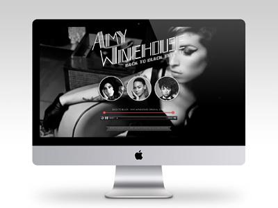 Back To Black Tribute Website html5 responsive website amywinehouse