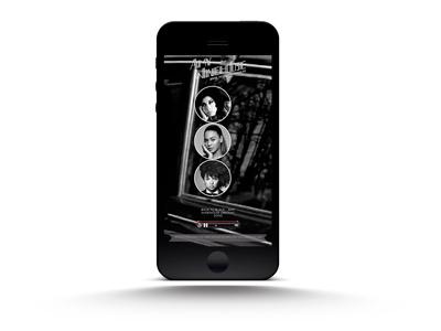 Back To Black Mobile html5 website audio fullscreen