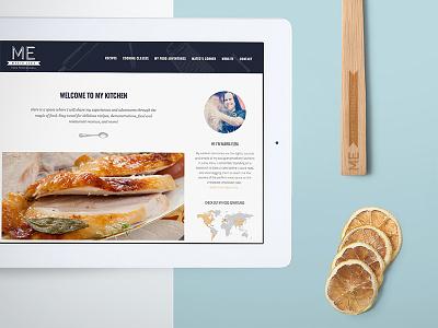 Maria Elba Food Professional Blog graphic design development website chef kitchen food design blog responsive