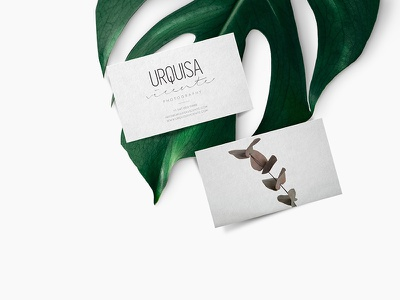 Urquisa Vicente Photographer Business Cards personal branding graphic design photography photographer logo identity branding
