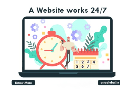 A website works 24/7. website design company