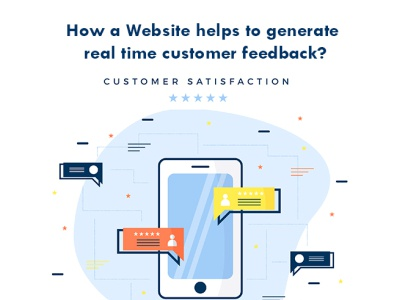How a Website helps to generate real time customer feedback? website design company