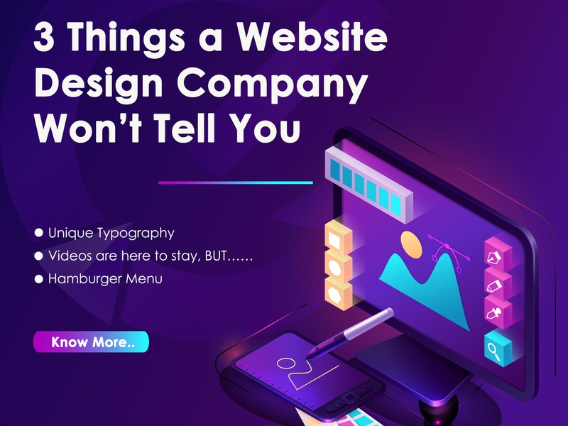 3 things a website design company won t tell you website design company website design website