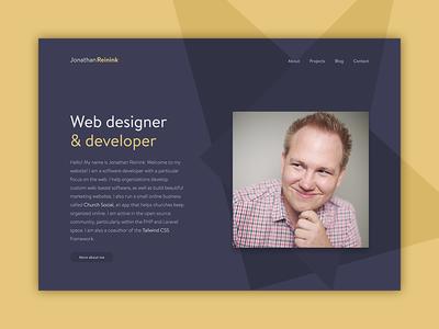 Personal Homepage portfolio homepage bio personal website