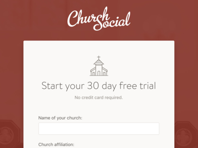 Sign Up Form signup page signup form signup web design church management church software church app