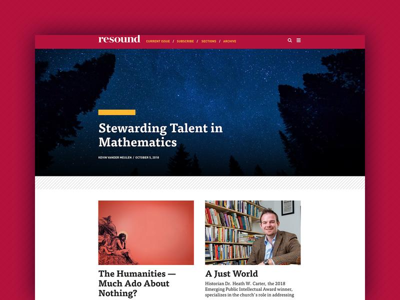Redeemer University Resound Blog christian web design website blog university