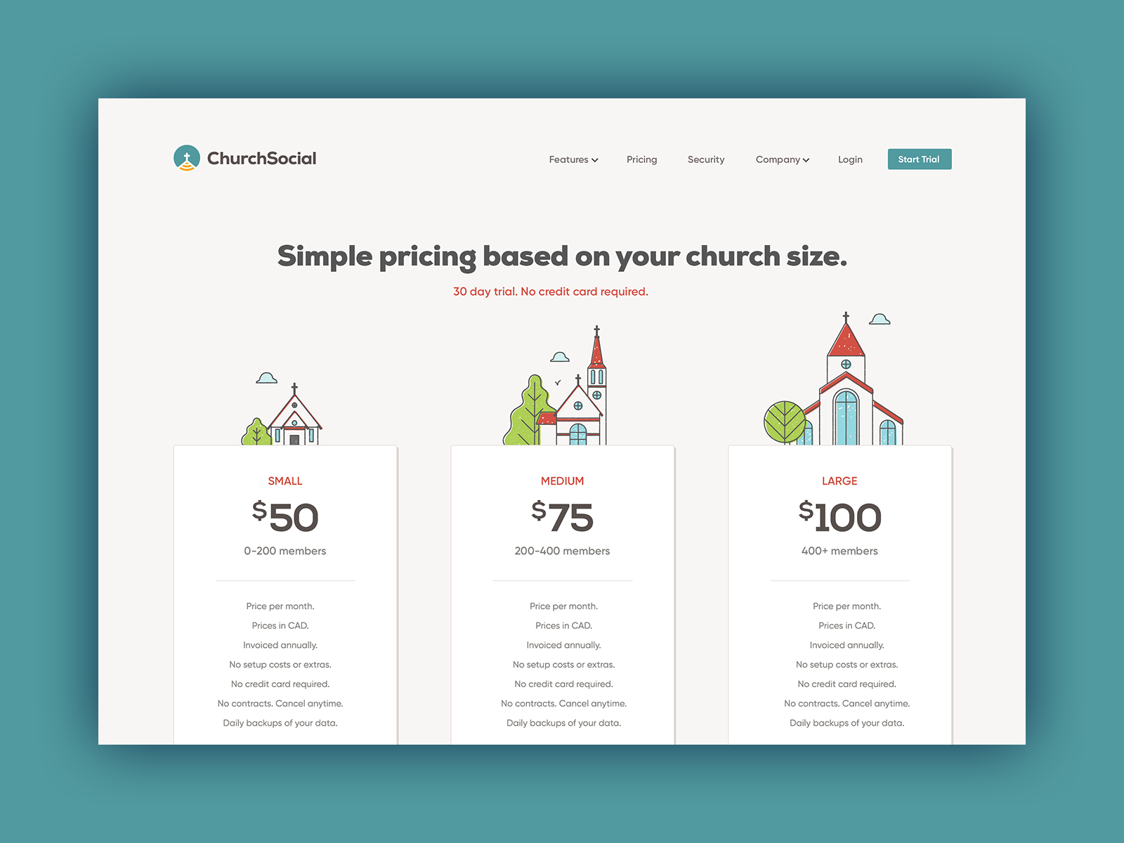 Church social   pricing   800x600