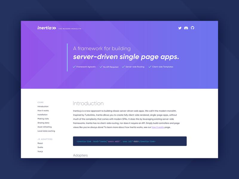 Inertia.js Website webdev opensource framework javascript