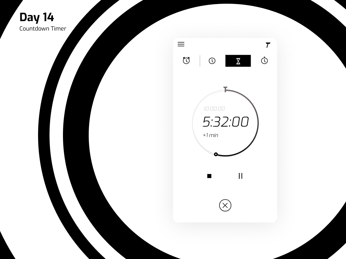 Day 14. Countdown Timer figma interface countdown timer ui daily ui