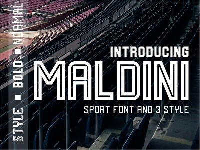 MALDINI font Esport font design font esport sport