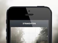 Straighten screenshot