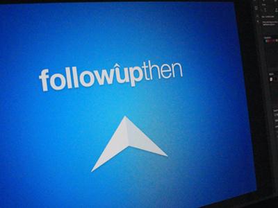 followupthen logo logo blue followupthen identity helvetica arrow