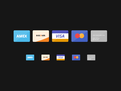 Freebie - Flat Credit Cards icon free psd flat visa amex discover cc credit card american express