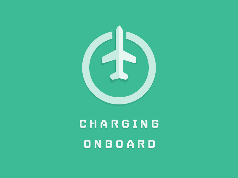 Charging Onboard @2x green airline airplane charge icon