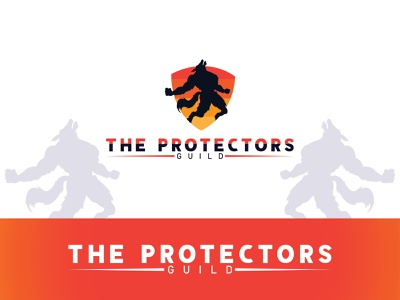 protectors guild logo icon flat illustration brand identity branding design design logo mark logo logo design branding