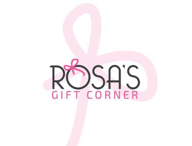 Rosa's Gift Corner Logo brand design illustration brand identity branding design logo mark branding logo design logo floral logo floral design