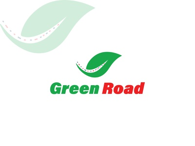 Green Road! vector brand identity brand branding design branding design logo mark logo design logo road logo leaf logo nature logo