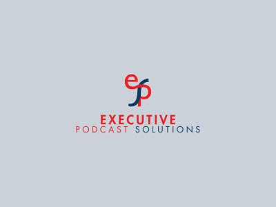 Executive Podcast Solutions Logo! 2020 trend design vector brand identity brand branding design branding logo mark logo design logo