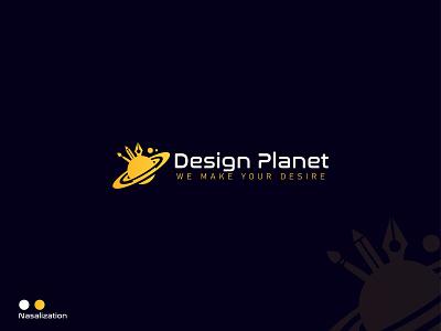 Design Planet custom logo design flat icon brand identity branding design branding logo mark logo design logo planet logo