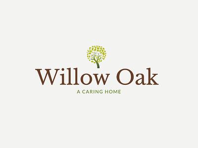 Willow Oak Logo vector icon illustration brand identity branding design design branding logo mark logo design logo
