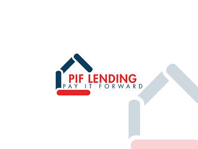 PIF flat brand identity icon brand branding design branding logo mark design logo logo design