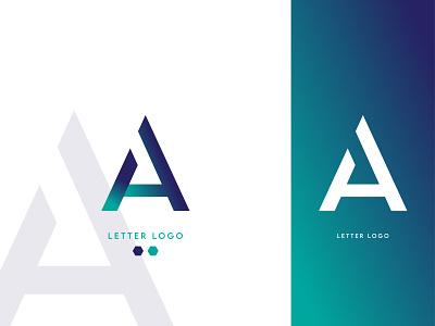 A Letter Logo design flat branding design brand identity logo design icon logo mark branding logo designer logodesign letter logo logo