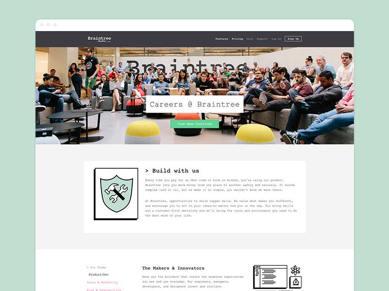 Braintree Careers  braintree careers webdesign jobs