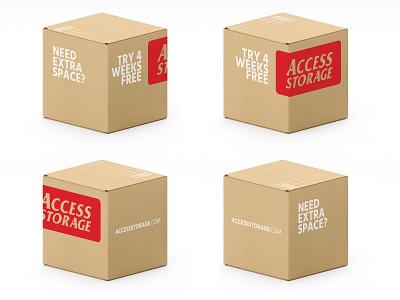 Moving Boxes Access vector logo branding design