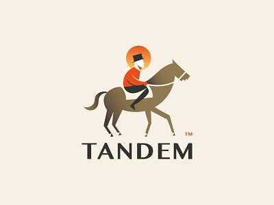 Tandem - logo design identity logodesigner logodesign tandem sunset horse typography design branding illustration logo